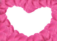 Pink Rose Petals Heart Shape Stock Images