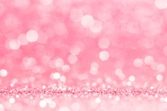 Pink rose, pink bokeh,circle abstract light background,Pink rose shining lights, sparkling glittering Valentines day,women day or. Event lights romantic stock photo