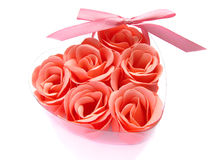 Pink rose soap in a box. Stock Photography