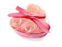 Pink rose soap in a box. Royalty Free Stock Photography