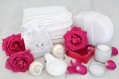Pink Rose Spa Beauty Treatment Royalty Free Stock Images