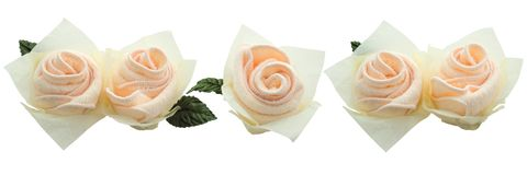 Pink rose towels. Pink roses done from towels Stock Photography