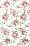 pink rose vintage on fabric background Stock Photography