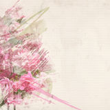 Pink rose watercolor art Royalty Free Stock Photo