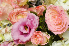 Pink Rose Wedding Bouquet Stock Image