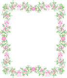 Pink rosebud border royalty free stock photography