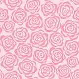 Pink roses (background). Seamless floral background  (pink roses Royalty Free Stock Photo