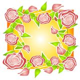 Pink Roses Background Pattern Royalty Free Stock Photography