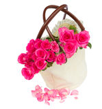 Pink  roses in bag Stock Photos