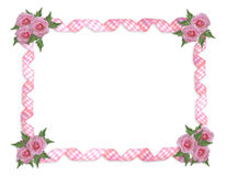 Pink roses border royalty free illustration