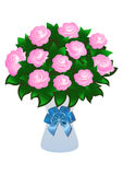 Pink roses with bow Royalty Free Stock Photos