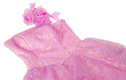 Pink roses bride dress Stock Images