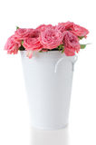 Pink roses with buds in a vase Stock Photos