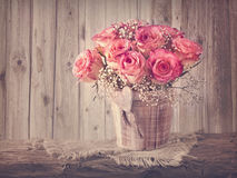 Pink roses flowers Royalty Free Stock Photography