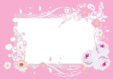 Pink roses frame pattern Royalty Free Stock Photo