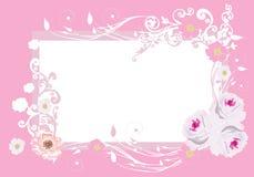 Pink roses frame pattern Royalty Free Stock Image