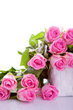 Pink roses in a gift box Royalty Free Stock Images