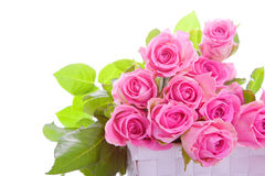 Pink roses in a gift box Royalty Free Stock Photography