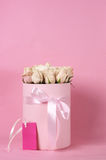 Pink roses in gift box Stock Photography