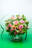Pink roses and Green ivy Stock Photography