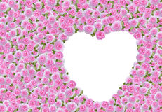 Pink roses and heart Royalty Free Stock Images