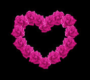 Pink roses heart  illustration. Pink roses heart, the symbol of love Stock Photo