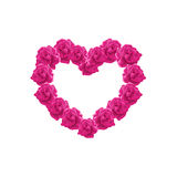 Pink roses heart illustration Royalty Free Stock Photos
