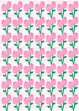 Roses and Hearts Background Pattern Stock Image