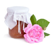 Pink roses jam  Stock Image