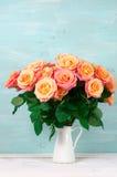 Pink roses in jug Royalty Free Stock Image