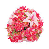 Pink roses and lily flower balls Royalty Free Stock Photography