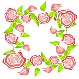 Pink Roses Pattern Background stock illustration