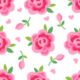 Pink roses seamless background Royalty Free Stock Images