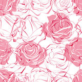 Pink roses seamless pattern Stock Images