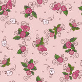 Pink roses seamless pattern. Seamless pattern of pink roses Royalty Free Stock Images