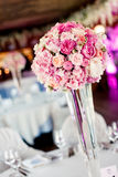 Pink roses in vase Royalty Free Stock Images