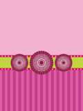 Pink rosette banner background Stock Photos