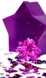 Pink rosette and star shaped box Royalty Free Stock Photography