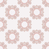 PInk rosettes pattern. Light pattern with decorative rosettes Royalty Free Stock Image