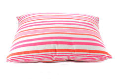 Pink and rosy pillow. On the white Stock Images