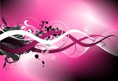 Pink rough vector design. Pink vector illustration with floral motive Stock Photography