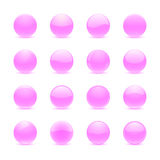 Pink round buttons Royalty Free Stock Photos