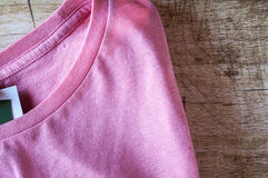 Pink round neck T-Shirt close up Royalty Free Stock Photo