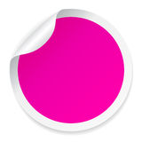 Pink round sticker Royalty Free Stock Photos
