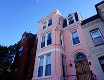 Pink Row House Royalty Free Stock Photo