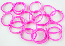 Pink rubber bands Royalty Free Stock Image