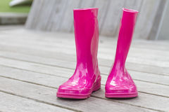 Pink rubber boots/gardening/boots Royalty Free Stock Photo