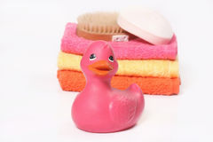 Pink Rubber Duck Stock Photography