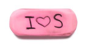 Pink Rubber Eraser Stock Images