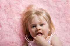 On Pink Rug Stock Photos